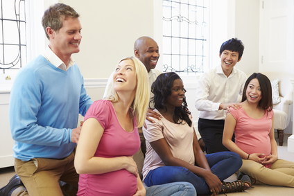 Antenatal class with 3 couples
